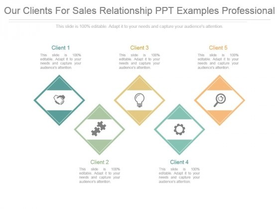 our clients for sales relationship ppt examples professional