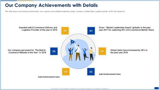 Our Company Achievements With Details Ppt Gallery Portfolio PDF