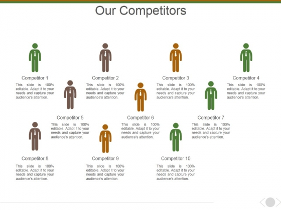 Our Competitors Template 1 Ppt PowerPoint Presentation Infographic Template Outline