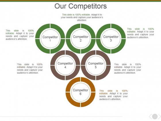 Our Competitors Template 2 Ppt PowerPoint Presentation Model Inspiration
