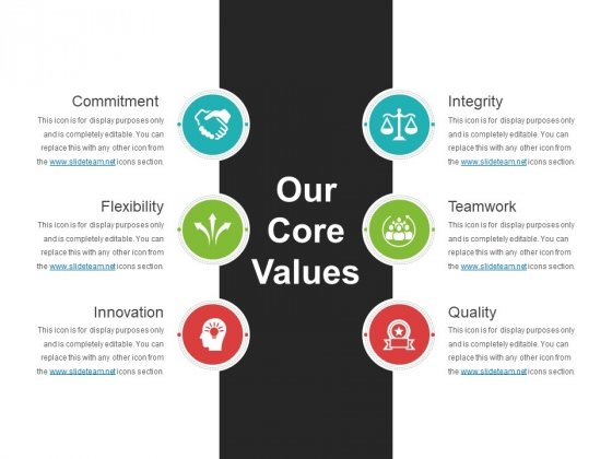 Our Core Values Template 1 Ppt PowerPoint Presentation Icon Portrait