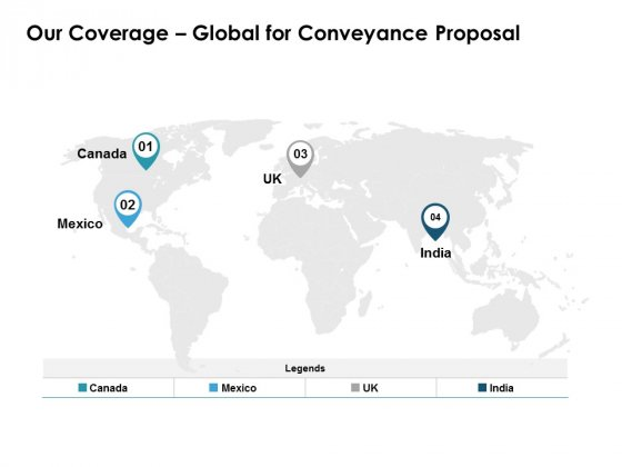Our Coverage Global For Conveyance Proposal Ppt PowerPoint Presentation Model Example File