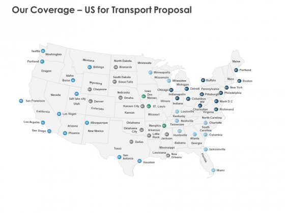 Our Coverage Us For Transport Proposal Ppt PowerPoint Presentation Slides Graphics Design