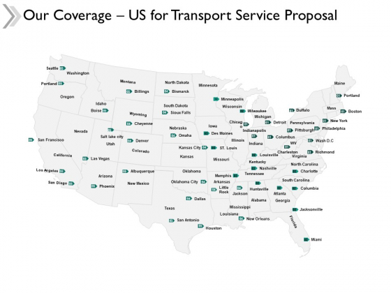 Our Coverage Us For Transport Service Proposal Ppt Powerpoint Presentation Icon Display