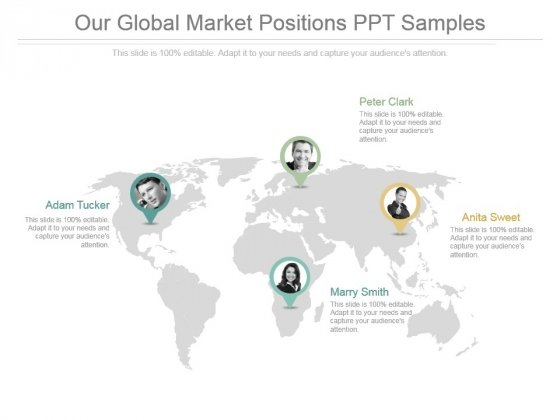 Our Global Market Positions Ppt Samples