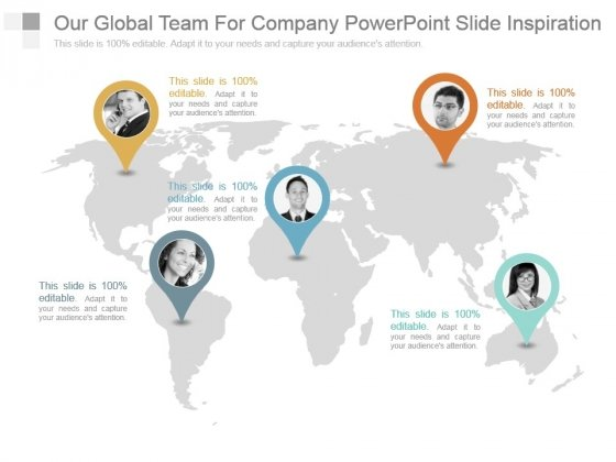 Our Global Team For Company Powerpoint Slide Inspiration