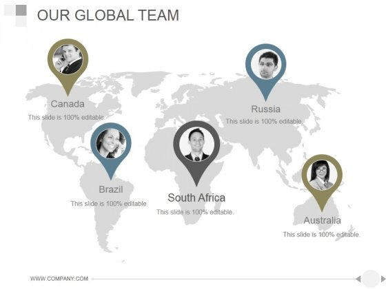 Our Global Team Ppt PowerPoint Presentation Model