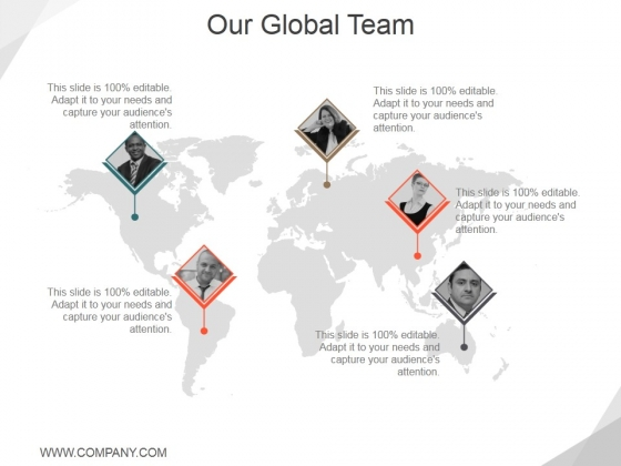 Our Global Team Ppt PowerPoint Presentation Slides Graphics Pictures