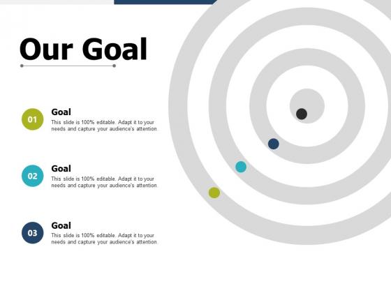 Our Goal Arrow Planning Ppt PowerPoint Presentation Portfolio