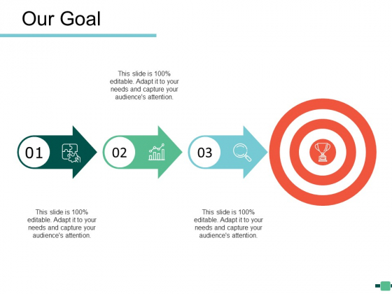 Our Goal Arrow Ppt Powerpoint Presentation Icon Graphics Example