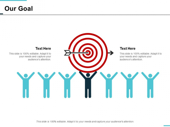 our goal arrow ppt powerpoint presentation icon smartart