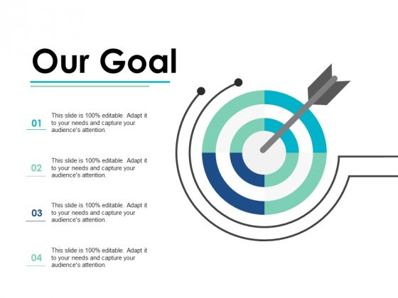 Our Goal Arrow Strategy Ppt PowerPoint Presentation Inspiration Introduction