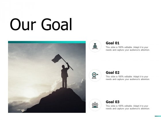 Our Goal Arrows Ppt PowerPoint Presentation Inspiration Display