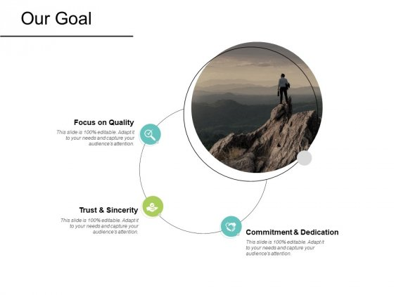 Our Goal Commitment Dedication Ppt PowerPoint Presentation Pictures Display