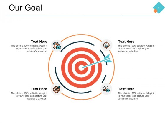 Our Goal Icon Planning Marketing Ppt PowerPoint Presentation Ideas Format