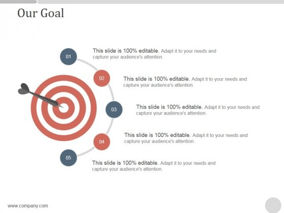 Our Goal Ppt PowerPoint Presentation Background Images