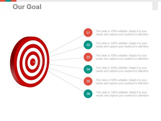Our Goal Ppt PowerPoint Presentation Gallery Visual Aids