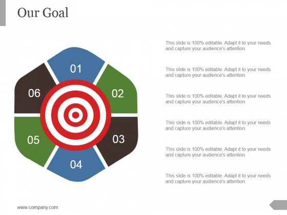 Our Goal Ppt PowerPoint Presentation Infographic Template Clipart