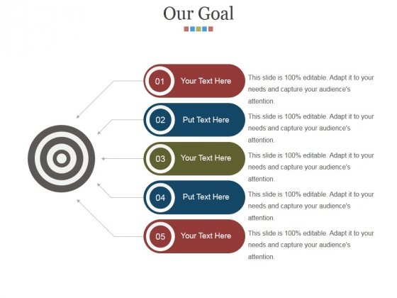 Our Goal Ppt PowerPoint Presentation Infographic Template Slide Portrait