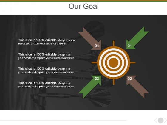 Our Goal Ppt PowerPoint Presentation Model Infographics