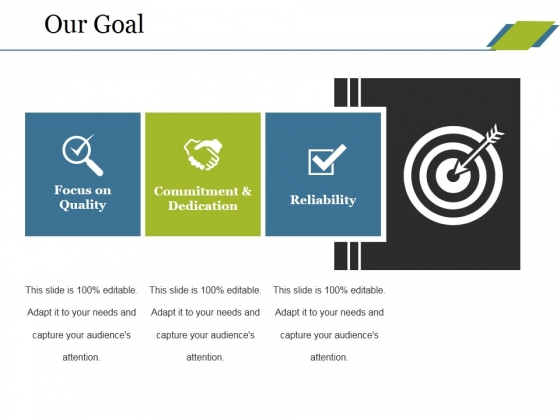 Our Goal Ppt PowerPoint Presentation Outline Visual Aids