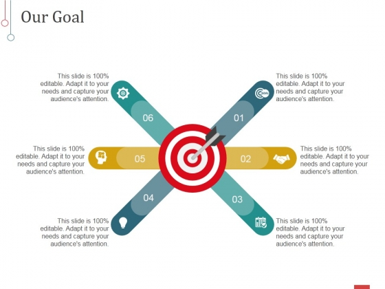 Our Goal Template 1 Ppt PowerPoint Presentation Styles Aids
