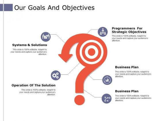 Our Goals And Objectives Ppt PowerPoint Presentation Ideas Smartart
