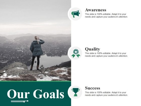 Our Goals Ppt PowerPoint Presentation Inspiration Graphics Design