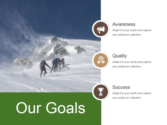 Our Goals Ppt PowerPoint Presentation Professional Slides