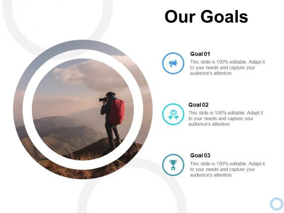 Our Goals Ppt PowerPoint Presentation Slides Background Images