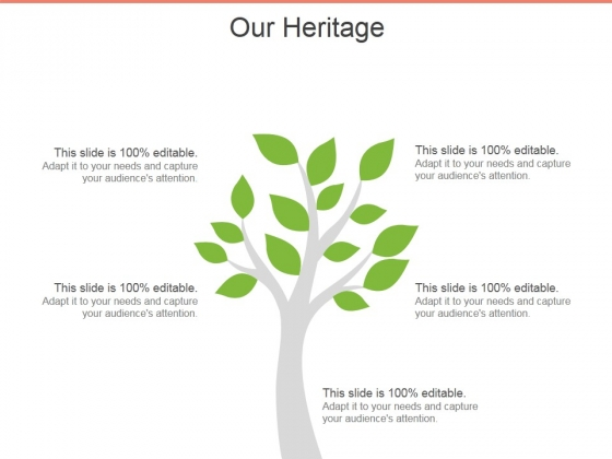 Our Heritage Template 1 Ppt PowerPoint Presentation Gallery Maker