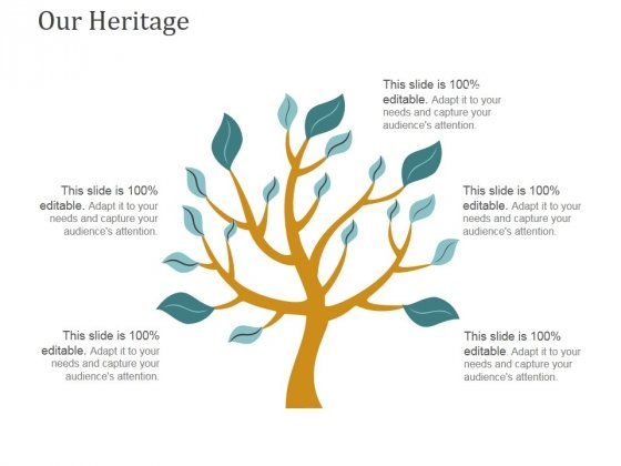 Our Heritage Template 2 Ppt PowerPoint Presentation Professional Elements