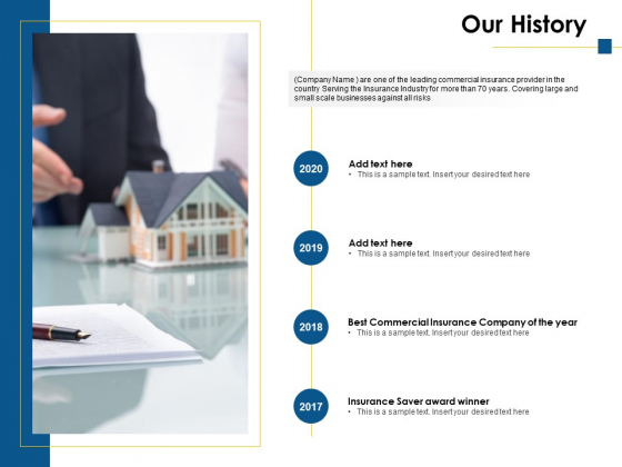 Our History 2017 To 2020 Ppt PowerPoint Presentation Infographic Template Ideas
