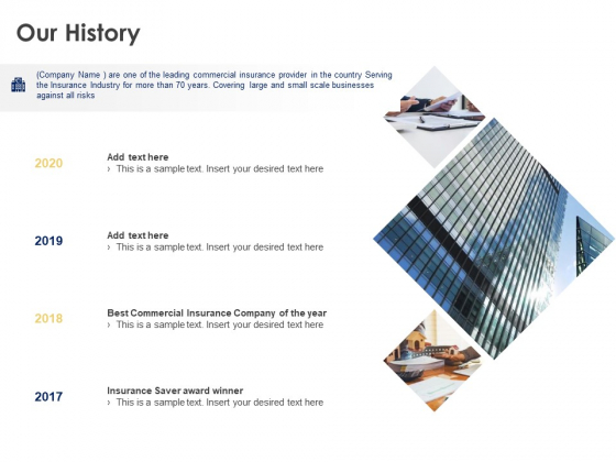 Our History 2017 To 2020 Ppt Powerpoint Presentation Professional Example File