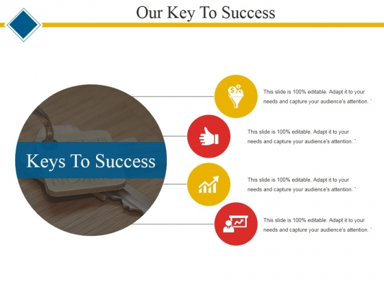 Our Key To Success Ppt PowerPoint Presentation Layouts Samples