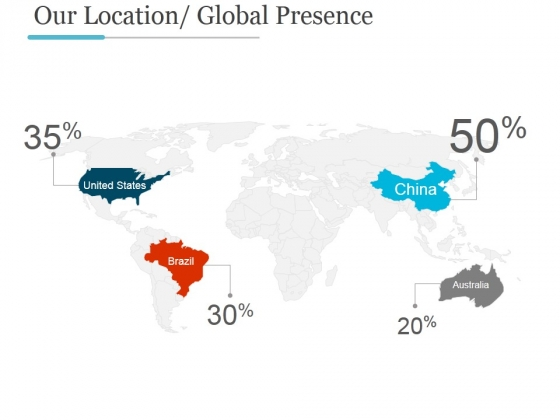 Our Location Global Presence Ppt PowerPoint Presentation Gallery