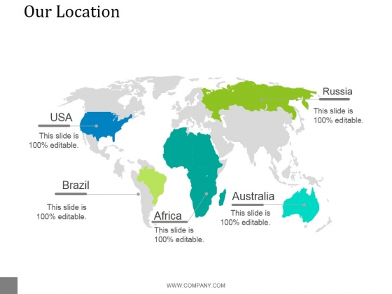 Our Location Ppt PowerPoint Presentation Professional