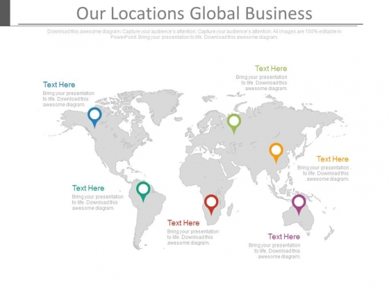 Our Locations Global Business Ppt Slides