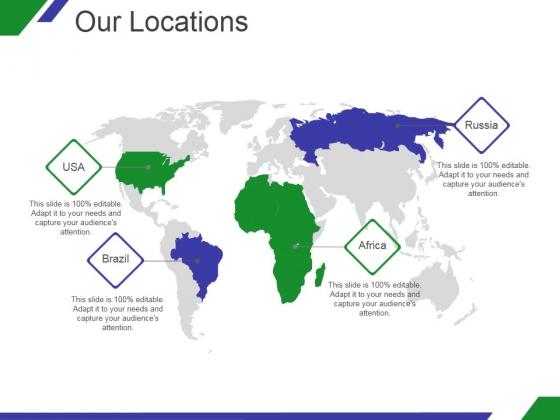Our Locations Ppt PowerPoint Presentation Portfolio