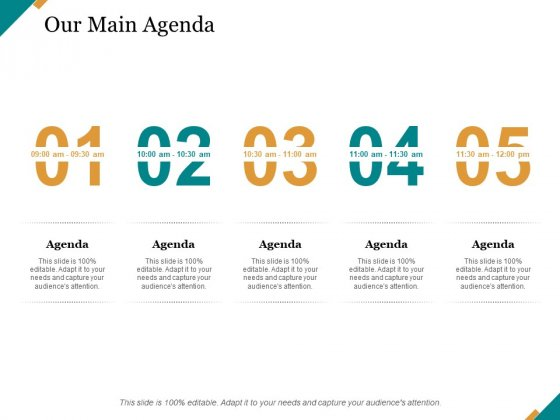 Our Main Agenda Ppt PowerPoint Presentation Outline Display