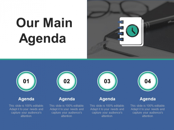 Our Main Agenda Ppt PowerPoint Presentation Slides Graphics Example