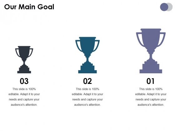 Our Main Goal Ppt PowerPoint Presentation Infographics Guidelines