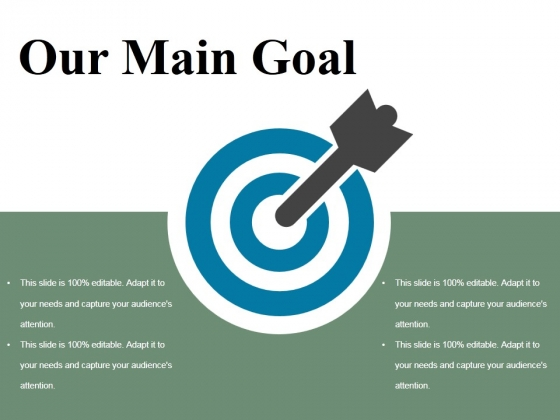 Our Main Goal Ppt PowerPoint Presentation Layouts Gallery