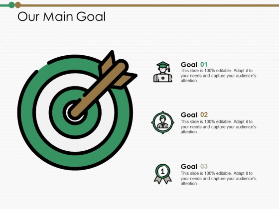 Our Main Goal Ppt PowerPoint Presentation Layouts Gridlines