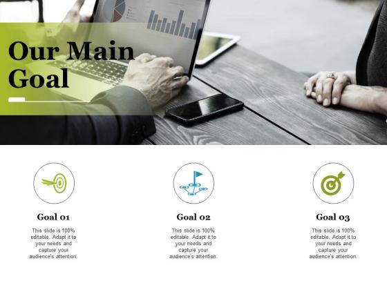 our main goal ppt powerpoint presentation portfolio maker