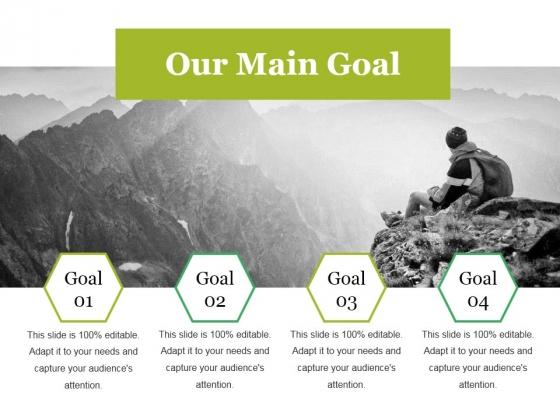 Our Main Goal Ppt PowerPoint Presentation Show Ideas