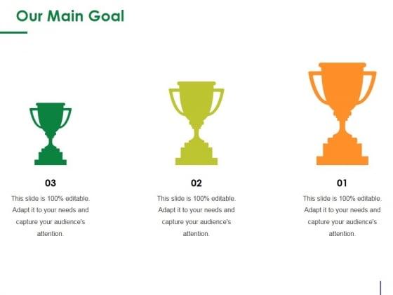 Our Main Goal Ppt PowerPoint Presentation Slides Graphics Tutorials