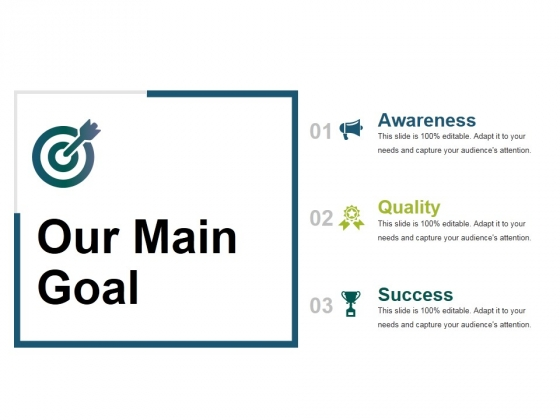 Our Main Goal Ppt PowerPoint Presentation Styles Shapes