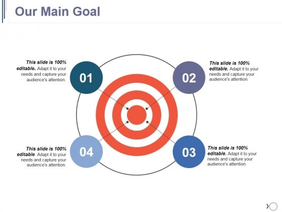 Our Main Goal Ppt PowerPoint Presentation Visual Aids Model