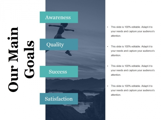 Our Main Goals Ppt PowerPoint Presentation Example File
